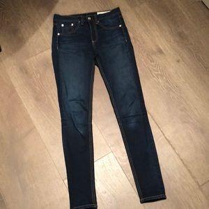rag & bone size 25 high-rise ankle skinny jean